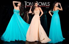 Tony Bowls TB11676 - Light Coral - Size 10 & Turquoise - Size 16 - Available at Stella's Bridal & Evening Collections