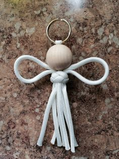 Christmas angel ornament paracord angel by highplainsknotwork Christmas Angel Ornaments, Christmas Crafts For Gifts, Christmas Angels, Craft Gifts, Christmas Holidays, Christmas Decorations, Crafts To Make, Crafts For Kids, Angel Crafts