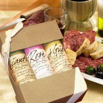 Made by hand, the artisan way, with love, time and a little wine comes this exclusive Volpi Wine Salame Trio gift box. Just in time for the holidays or any upcoming occassion, this trio set of wine salami's are produced in very small batches for the discerning palates that will appreciate the subtle flavor and high quality of these all natural nostrano-style specialty cured meats where only sea salt is used as the preservative.
