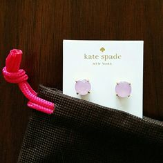 Last Pair! Kate Spade Gumdrop Studs Lilac Bliss The perfect spring pastel, back in stock- Last pair available! Price firm- Gorgeous, NWT Kate Spade gumdrop studs with beautiful, faceted lilac stones, 14K gold- plated hardware and post backs. Ships w/ Kate Spade dust bag. kate spade Jewelry Earrings