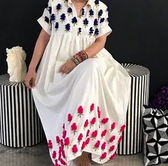 African Print Fashion, African Fashion Dresses, African Dress, Fashion Outfits, Linen Dresses, Casual Dresses, Caftan Dress, Kaftan, Mode Abaya