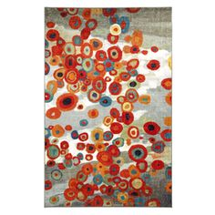 Mohawk Home Tossed Floral Rectangular Gray Floral Tufted Area Rug (Common: 8-ft x 10-ft; Actual: 8-ft x 10-ft)