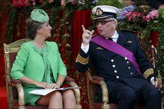 Mathilde, Philippe et leurs enfants - La famille royale fête les Belges et leur nation