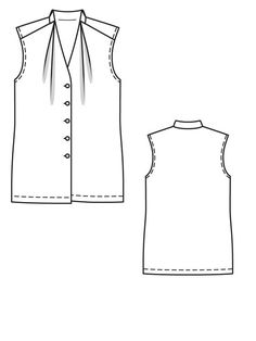 BurdaStyle Sleeveless Blouse line drawing Bs1109_bu_grau_shot_2_266_original_large