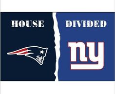 3x5 ft New England Patriots VS New York Giants house divided flag 150x90cm 2 metal grommets