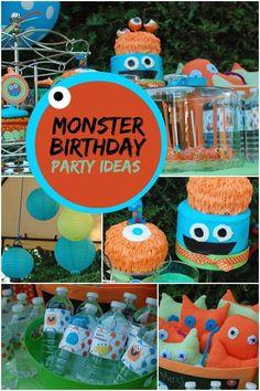 monster birthday ideas for boys www.spaceshipsandlaserbeams.com