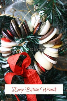 Easy button wreath -