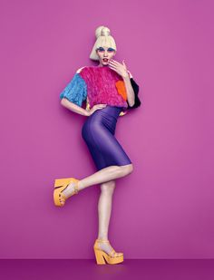 Aline Weber - Aline Weber and Carmelita star in 'Eat My Melissa', a pop art themed fashion story that is lensed for the pages of Plastic Dreams magaz...