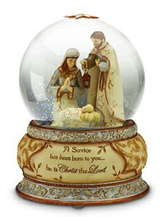 jesus christ snow globes | ... Nativity Sets and Holy Family Water Snow Globe - by Pavilion Gifts