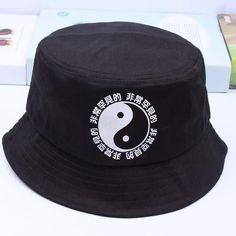 31e10b17460 Boonie Flat Fishman Hat Summer KYC Vintage Black Bucket Hat Sad Boys Men  Women Hip Hop