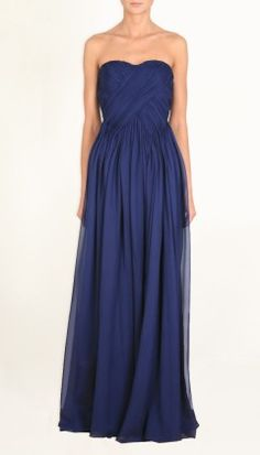 fall wedding in Philly? SILK CHIFFON STRAPLESS GOWN by Tibi (too bad its $825.00)