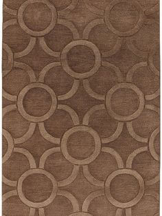 Chandra ANT-157 $487.99 per rug #interiors #decor #handtufted #contemporary #rugs #wool #circles #design #kipsbay #showhouse