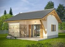 5 Simple Bungalow House Plans for a Greater Accessibility Small House Floor Plans, Bungalow House Plans, Bungalow House Design, Small House Design, One Storey House, Small Bungalow, Beautiful Small Homes, Home Structure, Construction Cost