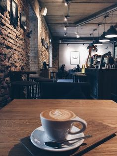 Find and save aesthetic coffee images and quotes and discover coffee from around the world. Coffee House Cafe, Cozy Coffee Shop, Cafe House, Coffee Shop Design, Coffee Is Life, Coffee Shops, Coffee And Books, Coffee Art, My Coffee