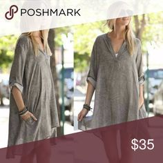 Loose BoHo Top This super loose fitting taupe boho top is great for the  transition into fall. Don't miss out & snag the last one now! Tops