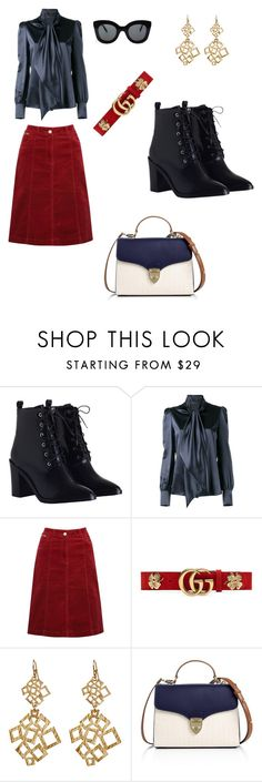 """""""autumn air"""" by tracy-mizo ❤ liked on Polyvore featuring Zimmermann, Yves Saint Laurent, M&Co, Gucci, Amrita Singh, Aspinal of London and CÉLINE"""
