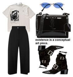 """""""Simple"""" by selinmavi ❤ liked on Polyvore featuring Public School, Yves Saint Laurent and Jean-Paul Gaultier"""