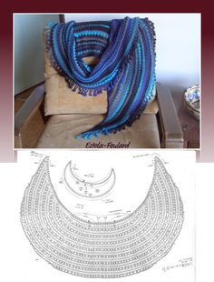 The Crescent Moon Crochet Shawl / http://patronesdeapuntodered.blogspot.it/2012/04/explicaciones-chal-crochet-crescent.html