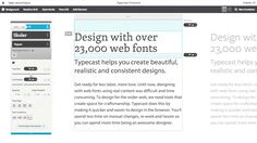 Use Typecast to create visual and semantic designs. Check for readability, rendering and beauty then share a working prototype of your design.  http://typecast.com/