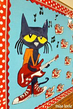 Miss Lovie: Pete The Cat Rocking in My School Shoes Back To School Bulletin Board