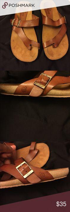 YOKONO Women's Sandals Yokono Womens-US- 8 Leather-Suede-Sandals / Casual- Brown -Walking shoes. Rubber sole 👍🏽Only worn once. Super comfortable Yokono Shoes Sandals