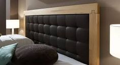 Bildergebnis für kopfteil polster holz Bed Back Design, Double Beds, Love Seat, Wall Lights, Woodworking, Couch, Head Boards, Bedroom Stuff, Dream Homes