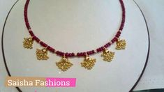 SImple Gold Necklace with Beads Designs. SImple Gold Necklace with Beads Designs Gold Mangalsutra Designs, Gold Earrings Designs, Gold Jewellery Design, Bead Jewellery, Beaded Jewelry, Gold Jewelry, Light Weight Gold Jewellery, Diamond Mangalsutra, Fancy Jewellery