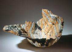 CLAUDI CASANOVAS Deep form, 1990, stoneware, 60 x 49 x 33 cm