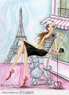 World Traveler: Paris Canvas Print by Bella Pilar Canvas Wall Art Tour Eiffel, Torre Eiffel Paris, Illustration Parisienne, Illustration Mode, French Illustration, Art Parisien, Decoupage, Paris Canvas, I Love Paris