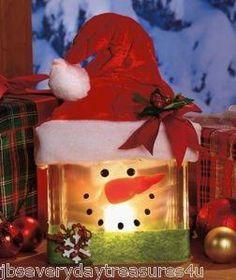 Glass Block Santa
