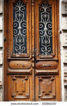 Art-Nouveau Old Door In Tbilisi Old Town, Republic Of Georgia Stock Photo 100862197 : Shutterstock