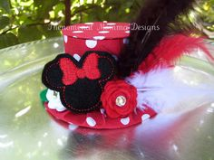 Classic Minnie Mouse Inspired Birthday Hat Mini Top by PMDBoutique, $22.00