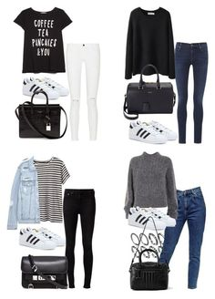 """adidas superstar/"" by tyra482 ❤ liked on Polyvore"