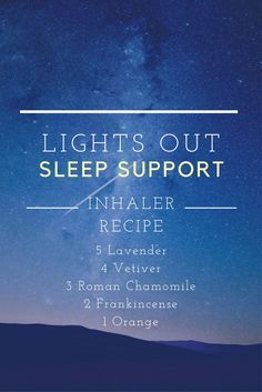 Trouble sleeping? Here's an essential oil blend for the insomniacs out there. This inhaler blend includes relaxing oils: lavender, vetiver, roman chamomile, frankincense, and orange. Get a good nights rest by creating this inhaler blend. Shop Sage Hill inhalers and accessories now.