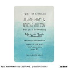 Aqua Bliss Watercolor Ombre Wedding