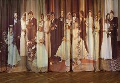 "robertas narkus & milda zabarauskaite.  photoinstallation ""Curtains"" 2007  2.90m x 5.4m print on fabric"