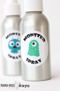 Today is the day to spray those silly little monsters away - make some MONSTER SPRAY today with this free printable and banish them for good! Young Living Oils, Young Living Essential Oils, Monsters Inc, Little Monsters, Monster Spray, Monster Inc Party, Crafts For Boys, Diy Party Decorations, Free Printables