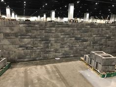 New from Allan Block: AB Aztec! Check out this display going up from our producing partners in Denver, CO Basalite Concrete