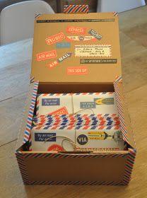 una caja llena de amor para enviar a mamá.