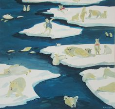 kirsten sims_day 146_new year s eve up north_gouache_460x460mm