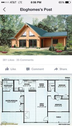 Dream House In The Woods Floor Plans - Dream Cabin House Plans, Log Home Plans, Cabin Floor Plans, Log Cabin Homes, Dream House Plans, Small House Plans, Cottage Plan, Sims House, Cabins And Cottages
