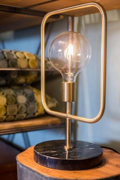 Buy Dutchbone Cubo Table Lamp online with Houseology's Price Promise. Full Dutchbone collection with UK & International shipping. Desk Lamp, Table Lamp, Cigar Room, Interior Concept, Piece A Vivre, Brass Lamp, Messing, Hanging Lights, Decorating Tips