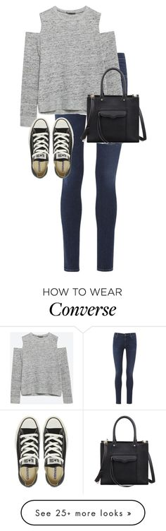 """""""Untitled #10144"""" by alexsrogers on Polyvore featuring moda, Citizens of Humanity, Zara, Converse e Rebecca Minkoff"""