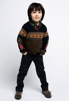 Kenzo Kids winter 2012 Cool boys sweater in traditional retro pattern