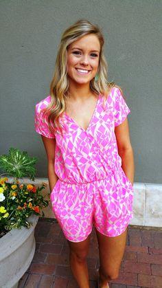 Pink Lemonade Romper | Ella Bleu