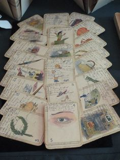 Fabulous 19thc cartomanchy fortune telling deck with inked notes   from Forget Me Not Antiques 2013