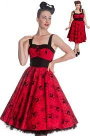 Red Black Widow 50's Rockabilly Dress by Hell Bunny