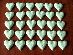 Garden Wedding Favor  Seed Bomb  Seafoam Green Heart Shape. $7.50, via Etsy. Seed Wedding Favors, Seed Bombs, Sea Foam, Garden Wedding, Mint Green, Heart Shapes, Seeds, Unique Jewelry, Handmade Gifts