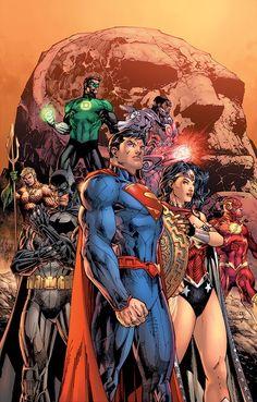 [Cover] Justice League: Origin Deluxe Hardcover by Jim Lee Out March 25 it collects Justice League Dc Comics Superheroes, Arte Dc Comics, Dc Comics Characters, Marvel Comics, Ms Marvel, Captain Marvel, Mundo Superman, Superman Art, Jim Lee Superman