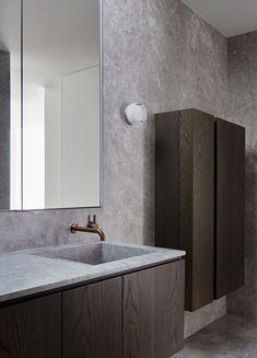 Home Interior Salas Bathroom Bathroom Niche, Bathroom Faucets, Bathroom Ideas, Master Bathrooms, 50s Bathroom, Bathroom Makeovers, Luxury Bathrooms, Bathroom Inspo, Bathroom Layout